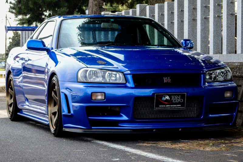 Nissan Skyline Gt R R34 Bayside Blue For Sale Import Jdm Cars To Usa