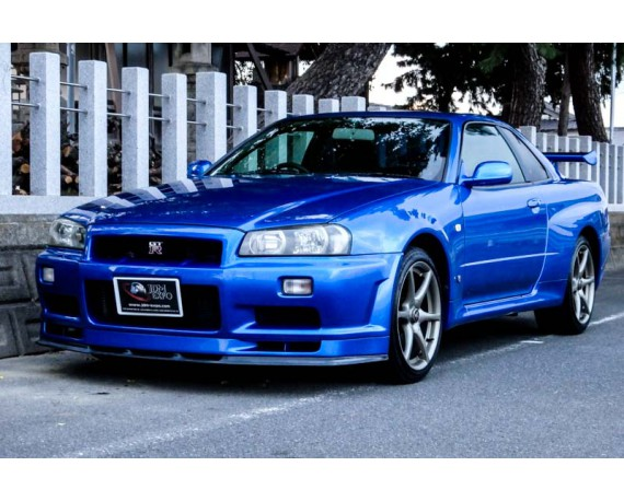 nissan skyline gtr r34 v spec for sale in japan bayside blue bnr34