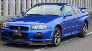 Nissan Skyline GTR R34 V-Spec II Nur Bayside blue!