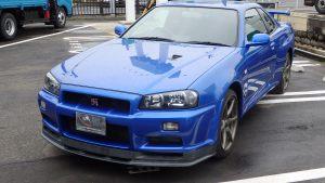 Nissan Skyline GTR R34 V-Spec II Nur Bayside blue for sale