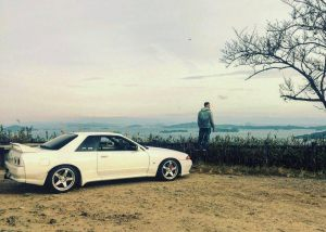 Neil Latham with his GTR R32 purchased from JDM EXPO