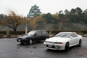 JDM EXPO JDM cars next to Nagoya Castle