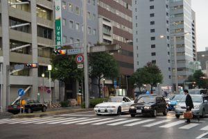 Typical morning day in Japan. JDM EXPO Staff on their way to work
