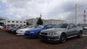 JDM EXPO Inventory cars at JDM EXPO Nagoya Port Yard