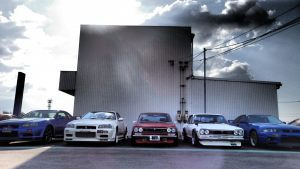 JDM EXPO Nissan Skyline Generation Demo Cars