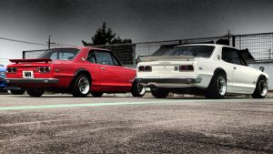 JDM EXPO Demo cars - Red vs. White