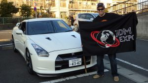 Happy customer after the delivery of his dream car - Nissan GTR 35!